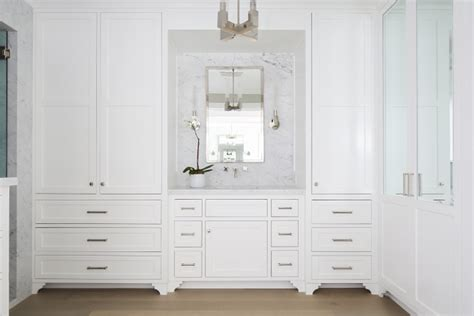 bathroom storage cabinets floor to ceiling california house with crisp white coastal interiors