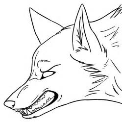 anime wolf colouring pages