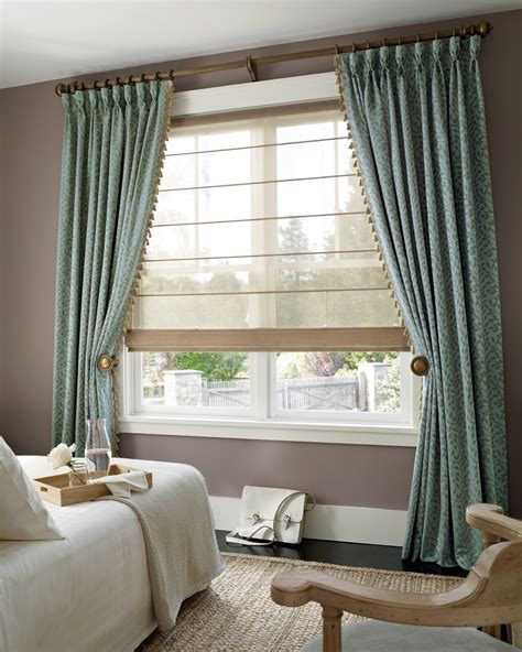 drapery and blinds roman shades with curtains