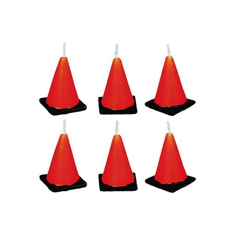construction cone candles 6ct
