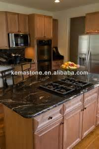 black kitchen island table cosmic black granite kitchen island table tops view