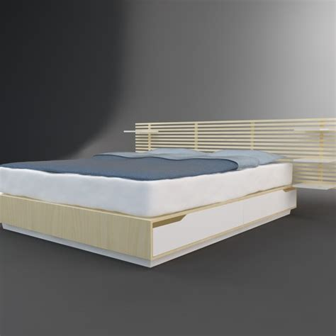 mandal ikea 3d model bed ikea mandal