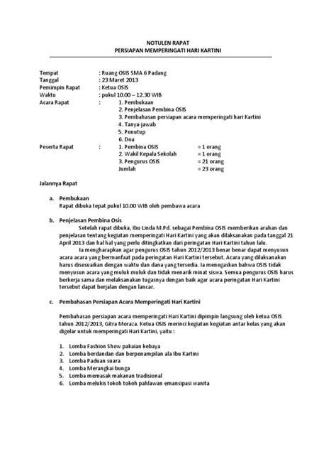 Contoh Hasil Notulis Rapat by 7 Contoh Notulen Rapat Terlengkap Dilengkapi Dengan Cara