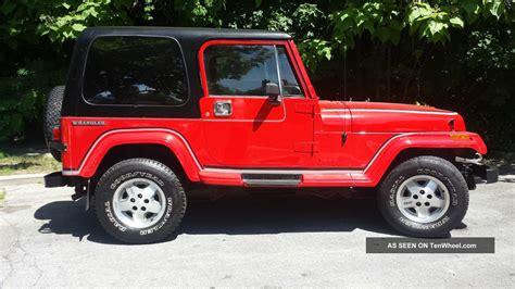 1989 Jeep Wrangler 1989 Jeep Wrangler Laredo Sport Utility 2 Door 4 2l