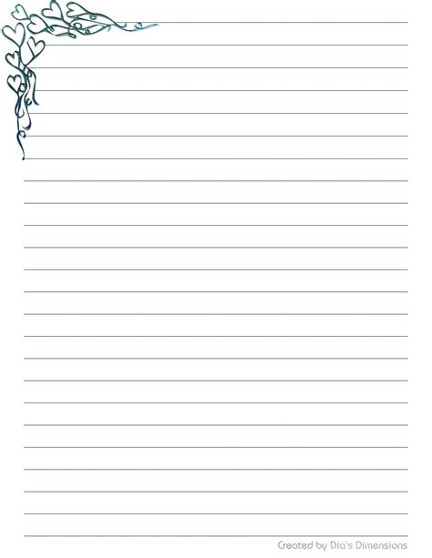 printable writing paper with lines and border 8 best images of printable lined stationery printable