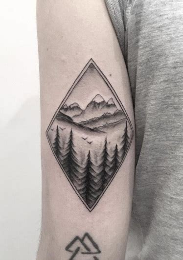 diamond nature tattoo 38 gorgeous landscape tattoos inspired by nature tattooblend