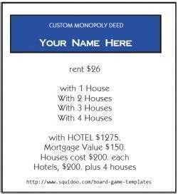 real estate cards in monopoly template 173 best images about monopoly on money