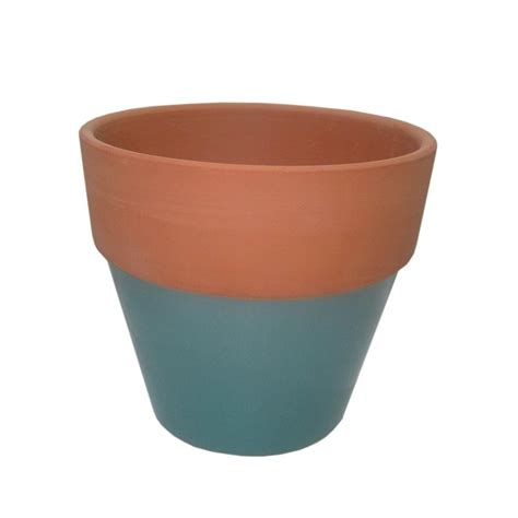 6 1 2 in glazed clay flower pot ybh027 the home depot