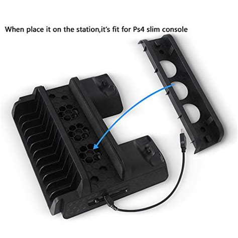 Ps4 Slim Usb Hub Dual Fan Cooling Cooler Charging Dock Vertical Stan ps4 ps4 slim ps4 pro cooling fan anrain cooling cooler with dual controller charging station