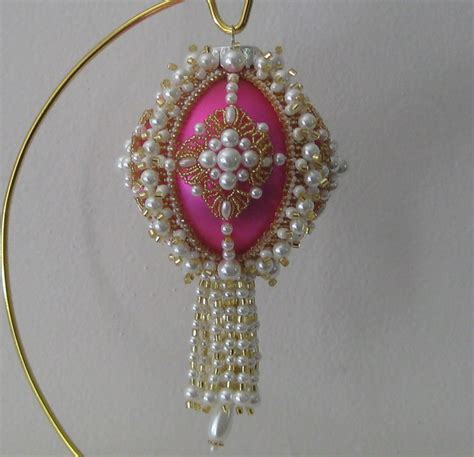 beaded christmas ornament pattern pay with paypal and