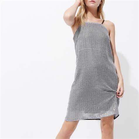 Cami Mini silver sequin cami mini slip dress seasonal