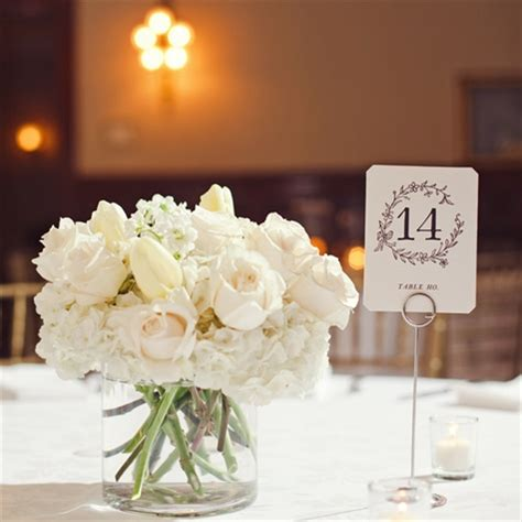 All White Wedding Flower Arrangements by Small All White Centerpieces