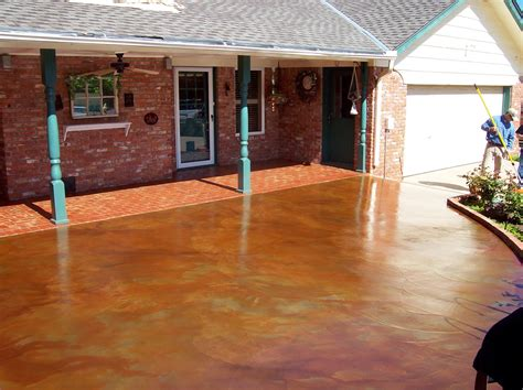 Stained Concrete Patio Pictures - how to acid staining a patio directcolors
