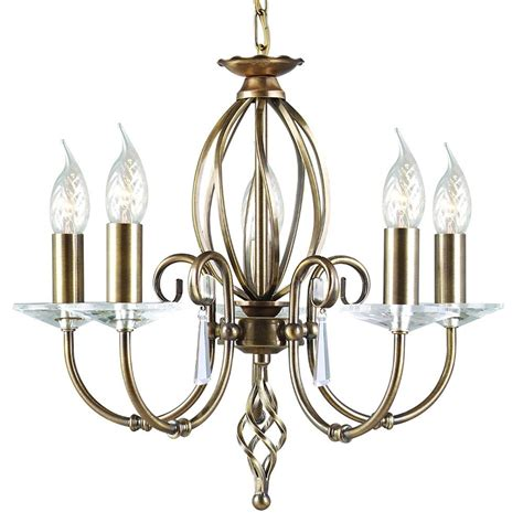 aged brass pendant light cut glass droplet chandelier in aged brass