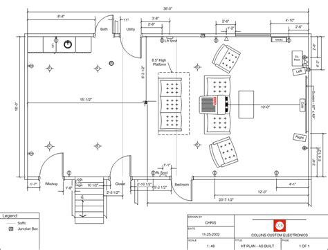 home theater floor plans home theater floor plan