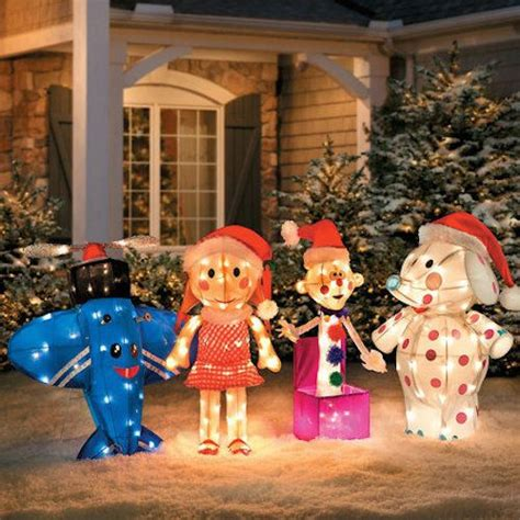 christmas yard decorations island of misfit toys misfit toys rudolph santa yard decor light tinsel lawn