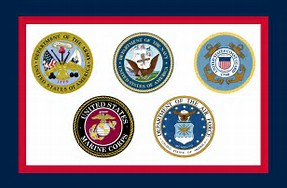 Image result for us military flags image