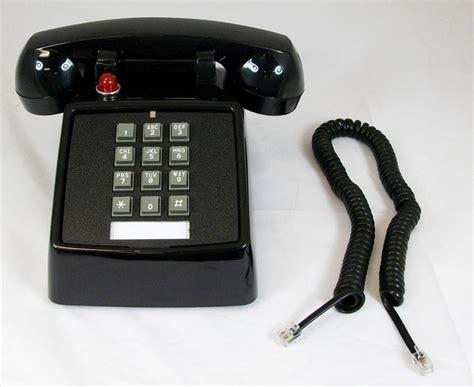 Office Desk Phone Cortelco Black Office Desk Corded Telephone Message Waiting Light 250000vba57md Ebay