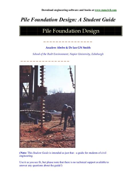 foundation layout guide pile foundation design