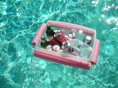 diy floating cooler summer is so here are 7 new uses for pool noodles