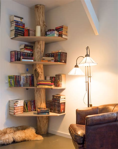 5 unique bookshelves that are actually real trees