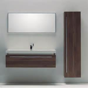 Pin modern wall hung bathroom vanity with ceramic sink faucet mirror