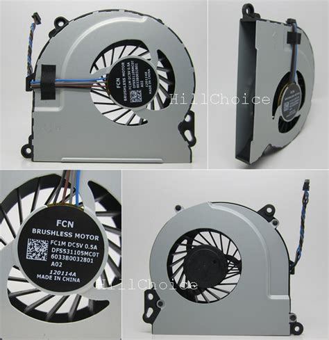 Hp Envy 15 Envy 17 Cpu Processor Cooling Fan new cpu cooling fan for hp envy 15 envy15 laptop dfs531105mc0t fc1m 6033b0032801 ebay