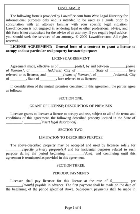 download license agreement for free formtemplate