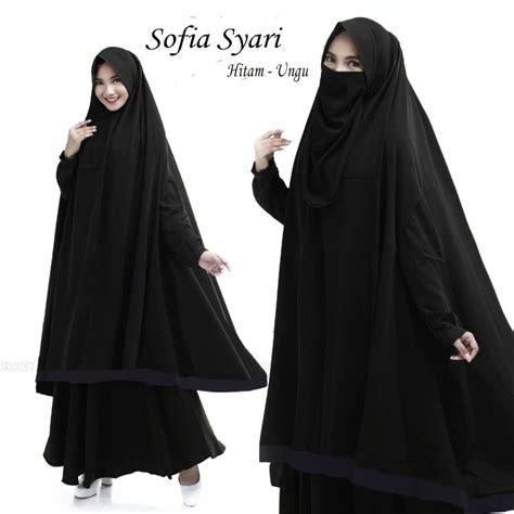 Gamis Warna Hitam jual gamis set cadar warna hitam di lapak koleksi pakaian fathudinkoleksipakaian