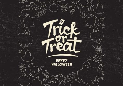 Trick Or Treat Graphic 13 trick or treat border vector free vector