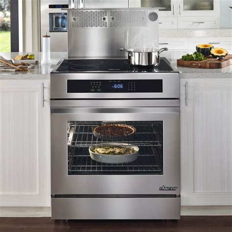 induction cooking vs convection dacor rnr30nic 30 inch slide in electric range with 4 induction elements 2 800 w element 4 8