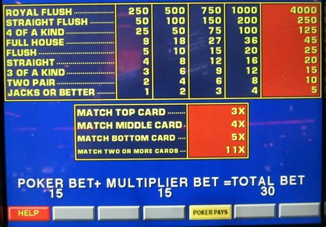 match card video poker