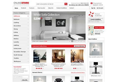 40 best e commerce website templates web graphic
