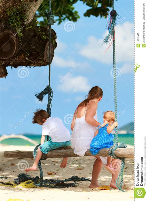 swinging vacations family on vacation royalty free stock photography image