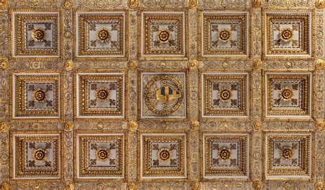 Plafond Caisson by Plafonds 224 Caissons En Bois Sculpt 233 Plafond 224 Caissons
