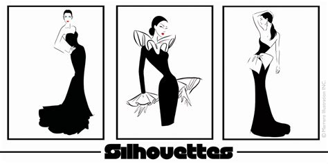 fashion illustration silhouettes silhouettes collection fashion illustration