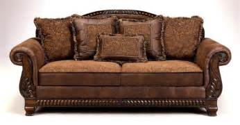 faux leather tapestry sofa