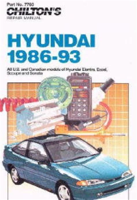 service manual free repair manual 1993 hyundai scoupe service manual pdf automotive repair chilton hyundai elantra excel scoupe sonata 1986 1993 repair manuals