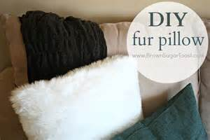 diy fur pillow brown sugar toast