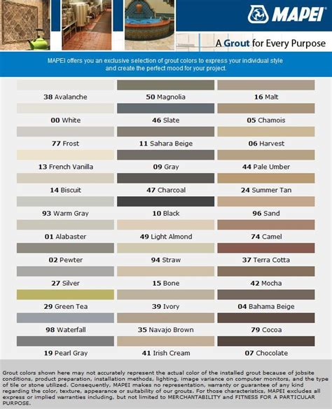 tec grout color chart cocoa and avalanche it is mapei sanded powder grout