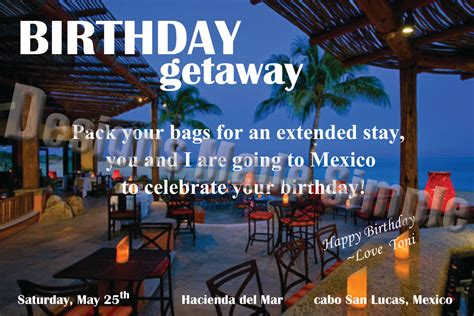 Getaway Gift Card - birthday weekend getaway customizable voucher ticket gift card