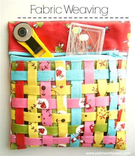 Patchwork Posse - fabric weaving how to