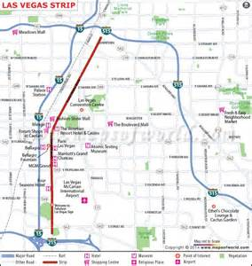 Map Of Las Vegas by About Las Vegas Strip In Nevada Map Facts Location