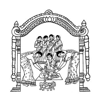 Indian Wedding Card Symbols Pictures
