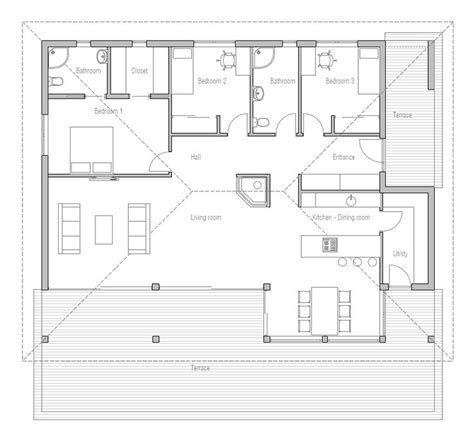 affordable open floor plans simple affordable small house plan with open plan and