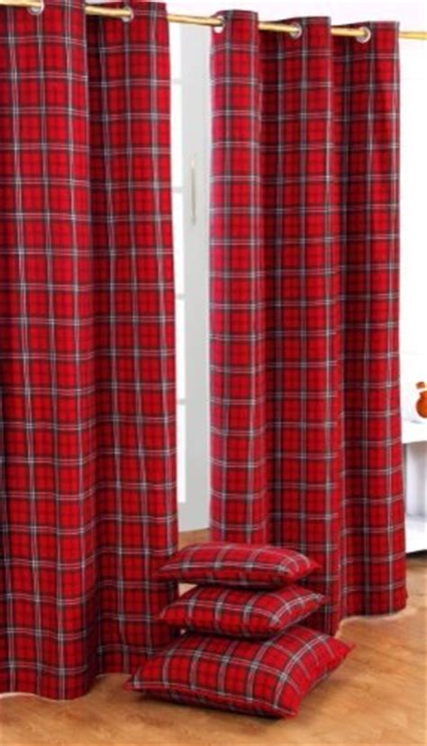 red check curtains ready made edward tartan check ready made curtain modern curtains