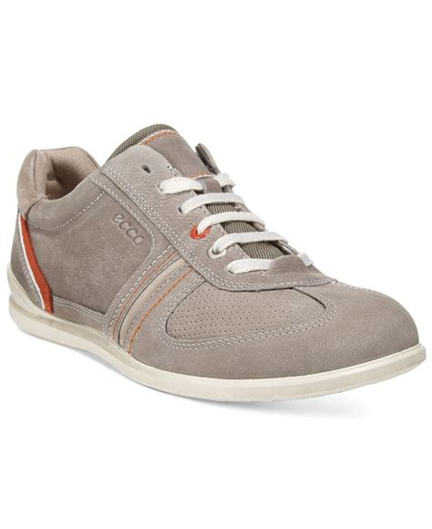 ecco mens sneakers lyst ecco s chander tie sneakers in gray for