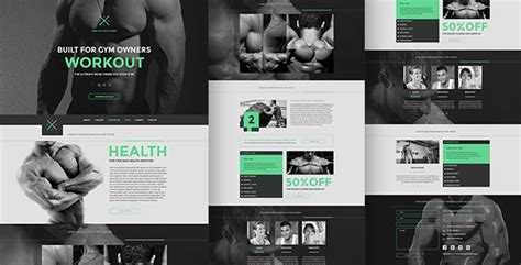 muse themes facebook preview gym fitness one page muse theme by angrypen themeforest