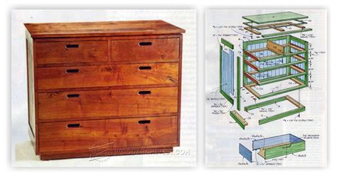 build chest  drawers woodarchivist