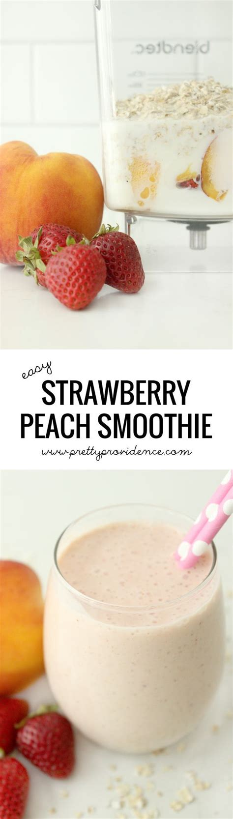 25 best ideas about strawberry peach smoothie on